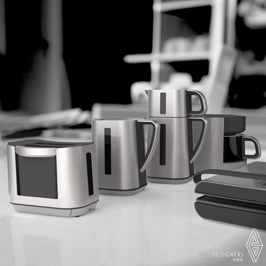 ECKIG breakfast set Kettle, coffee and tea machine, toaster