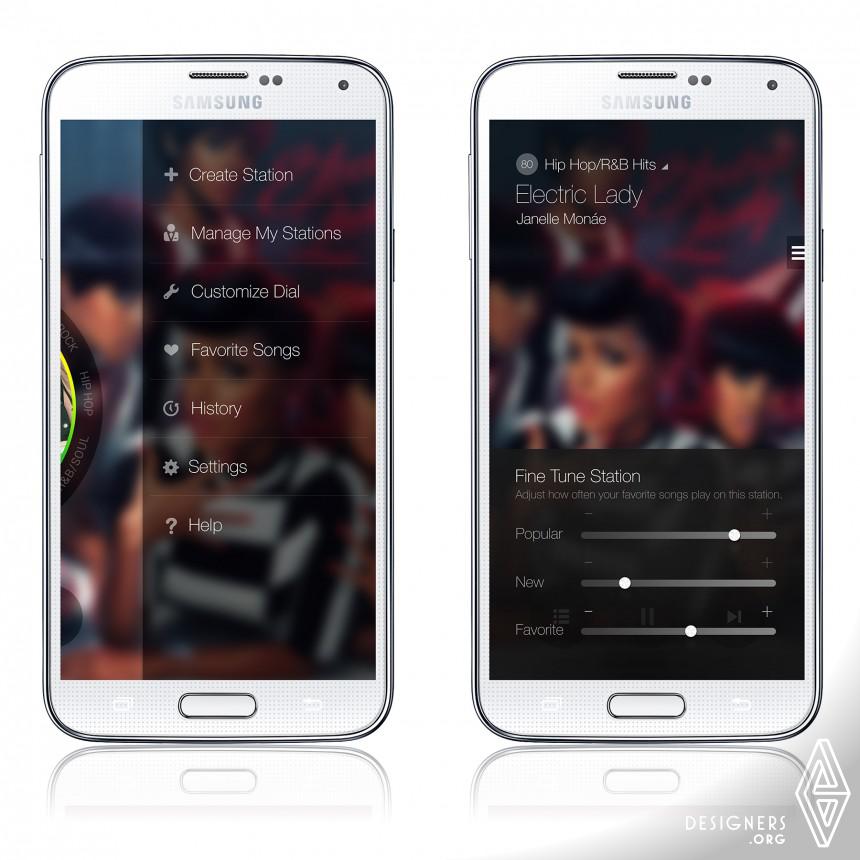 Milk Music Mobile Music App (Streaming Radio app). Image