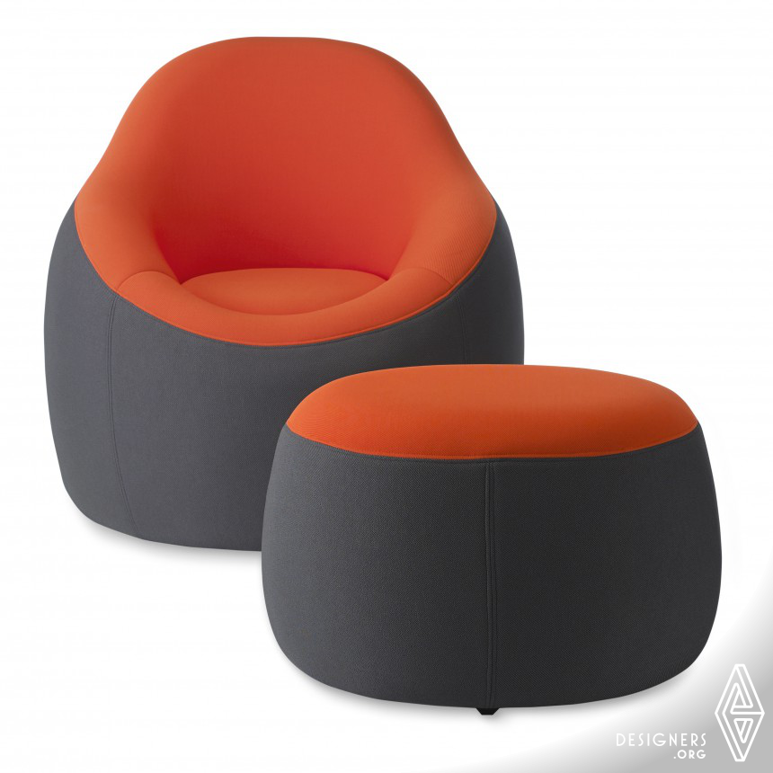 OMO Modern Chair and Ottoman