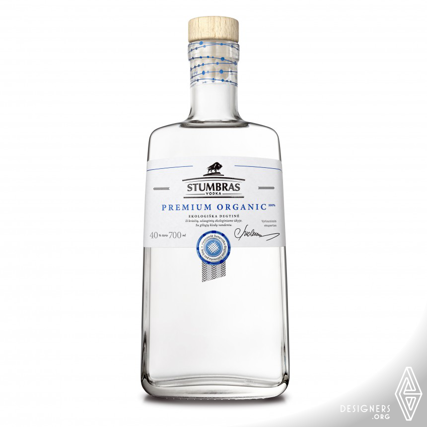 Stumbras Premium Organic Vodka Bottle