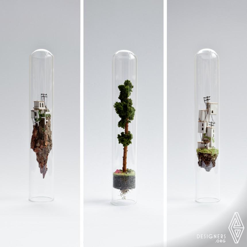 Micro Matter Miniature sculptures in glass test tubes