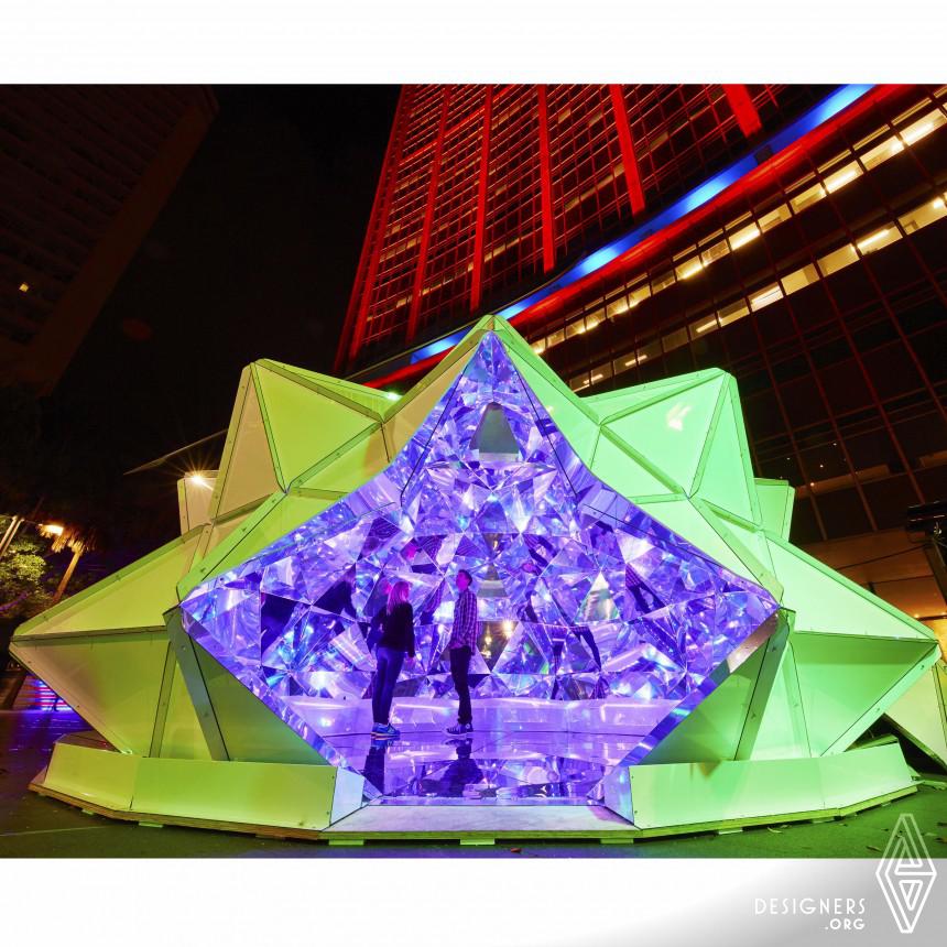 Light Origami Art Installation