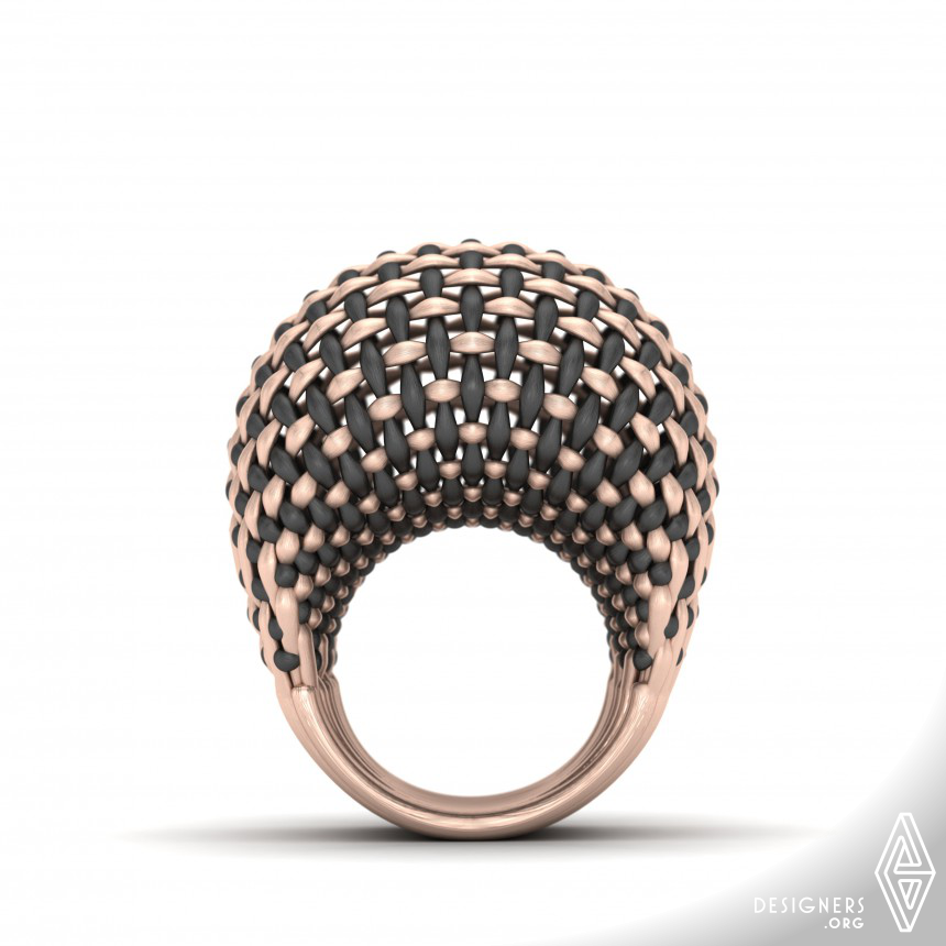 Interwoven Gold Ring