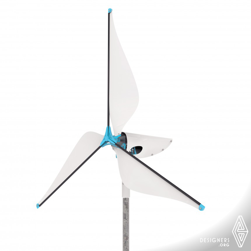 Wireframe Affordable wind turbine