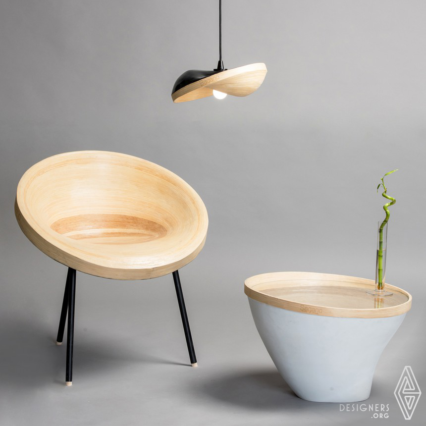 Sagano Chair and lamps