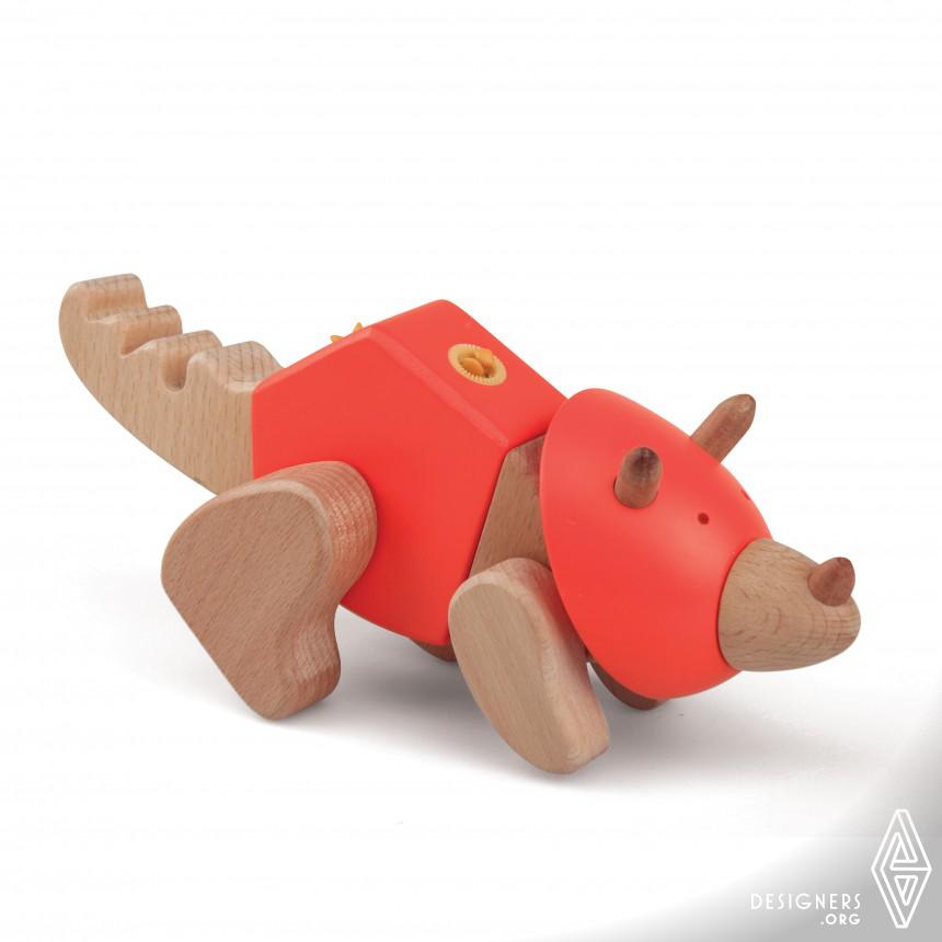 My Dino series Modular wooden toy