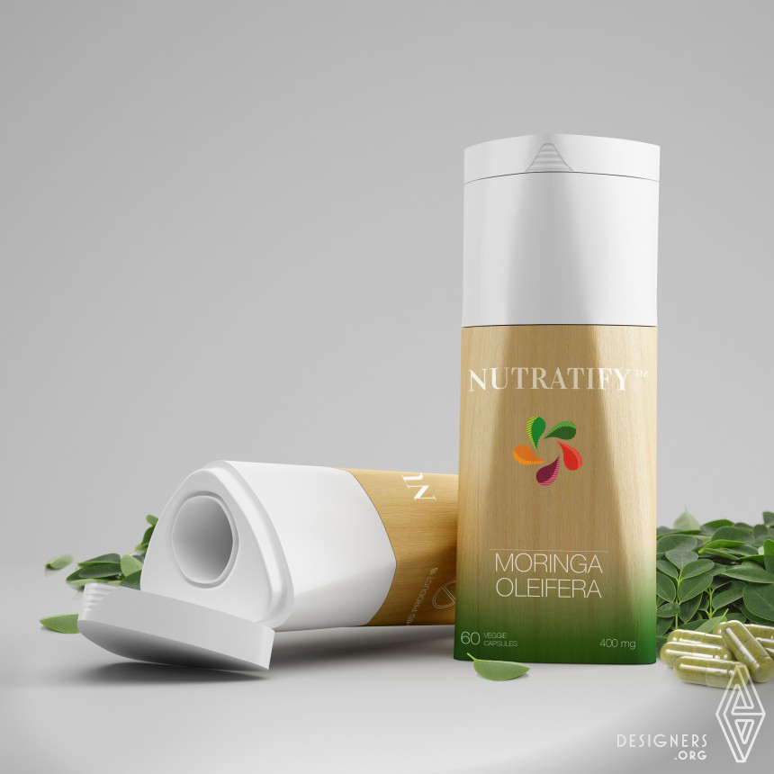 Nutratify packaging Capsules container