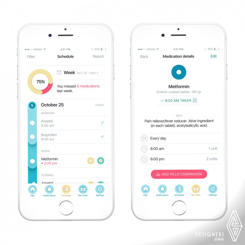 Pillo Healthcare Robot App Image