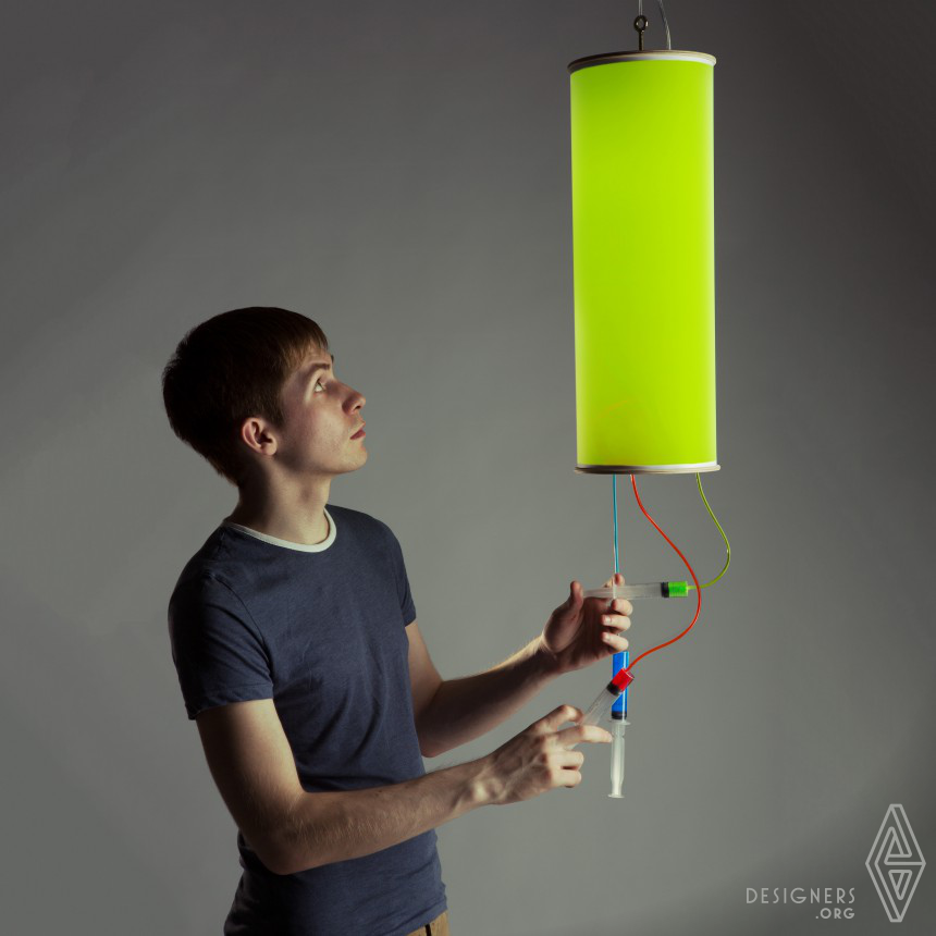 Colour Injector Interactive Multicoloured Lamp