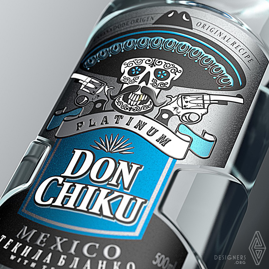 Don Chiku Tequila Packaging Design Image