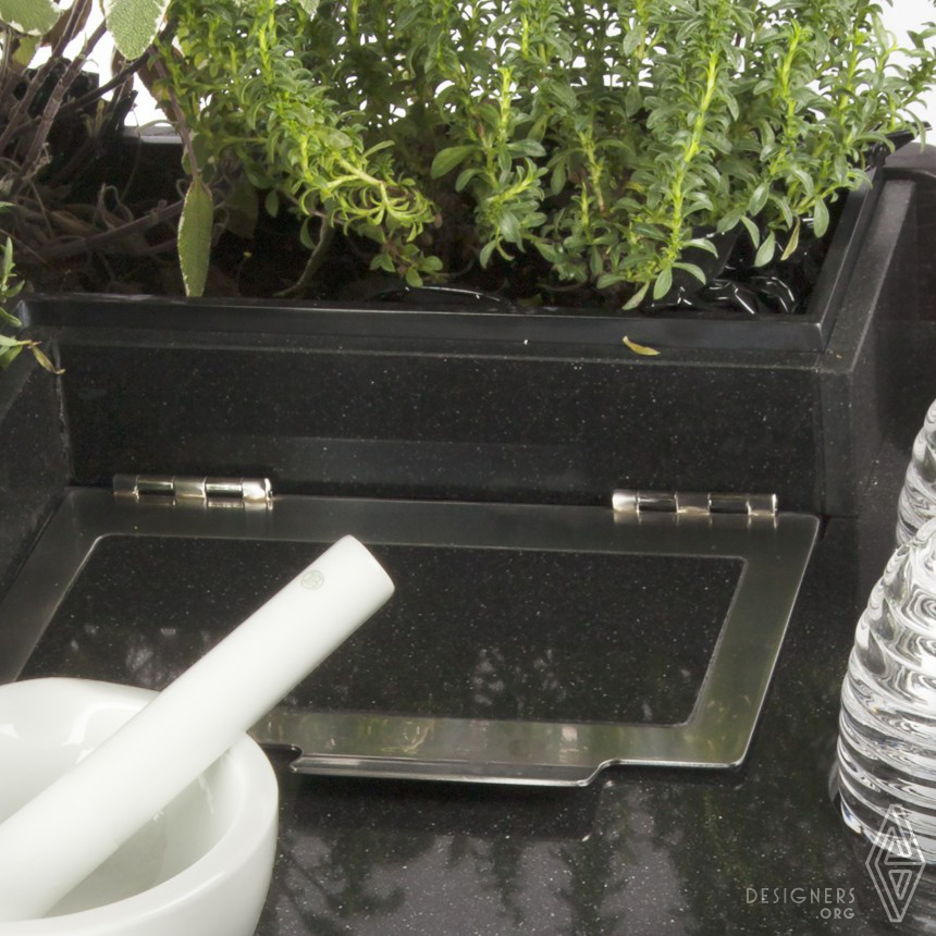 Herbal Tea Garden Hot drink service with fresh plants Image