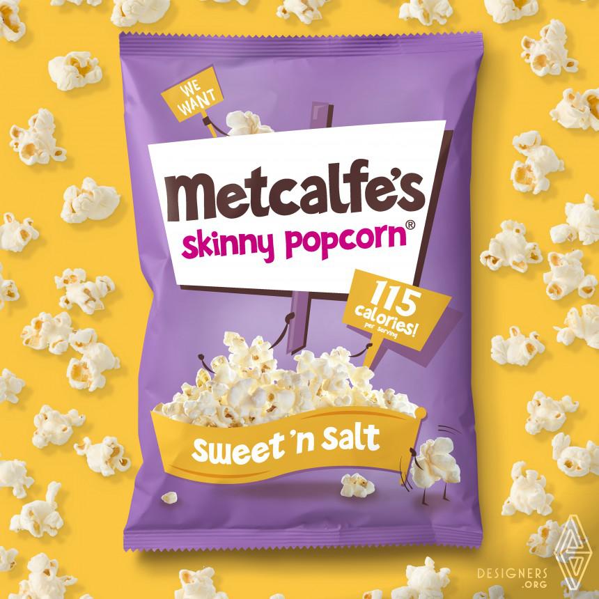 Metcalfe's Skinny Popcorn Food packaging