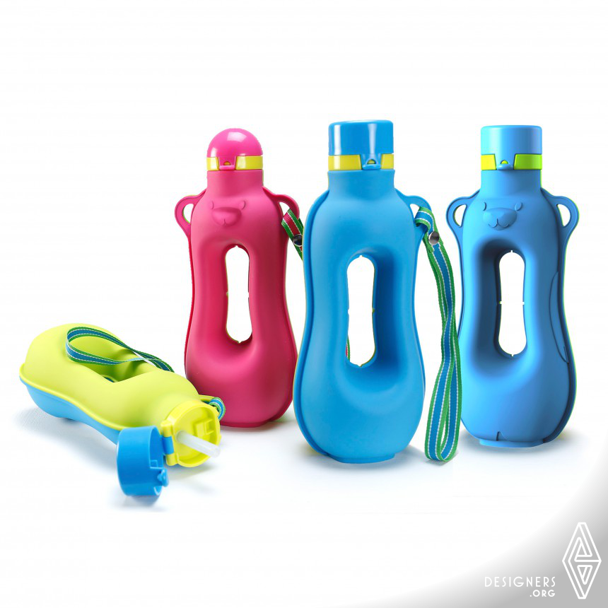 Happy Aquarius  Workout Silicone Water Bottle