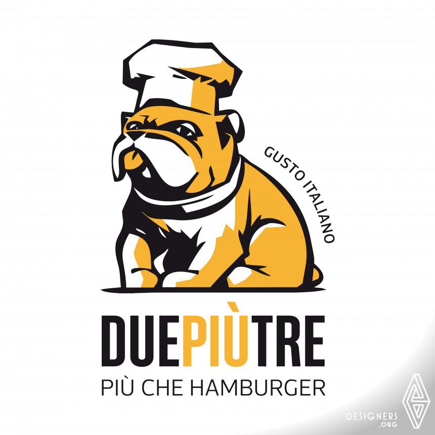 DuePiuTre – Piu che Hamburger Visual Identity