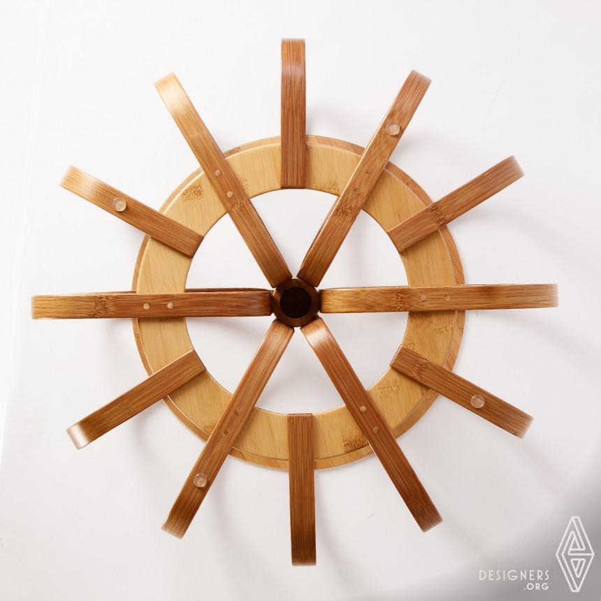 Kala Laminated Bamboo Retractable Stool Image