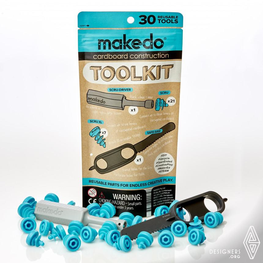 Makedo Toolkit Cardboard construction system