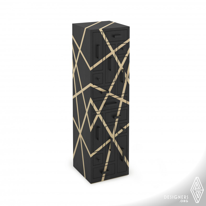 Black Labyrinth Chest of drawers