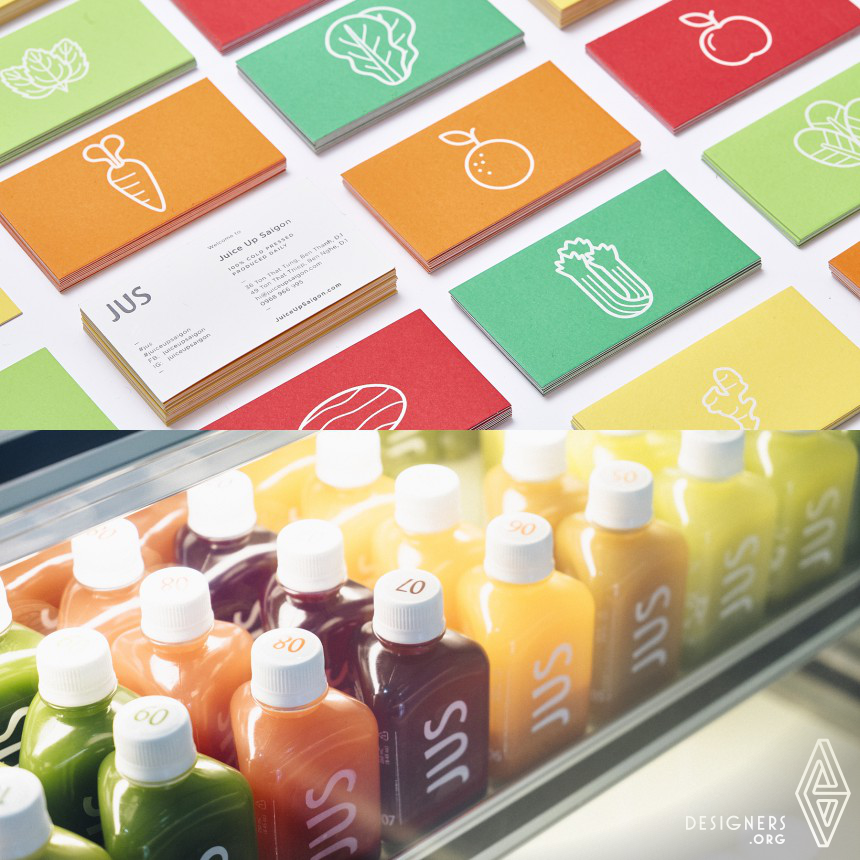 Jus Cold Pressed Juicery Drink Branding and Packaging Image