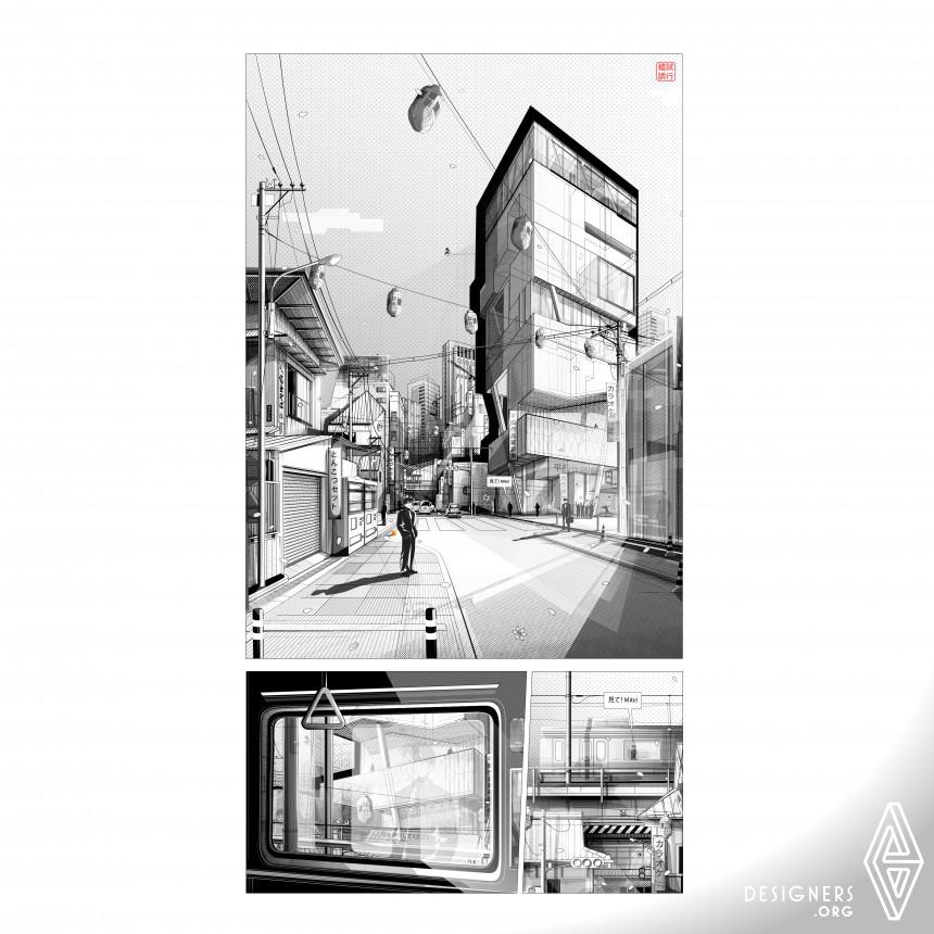Tokyo Metropolis Architectural Illustrations