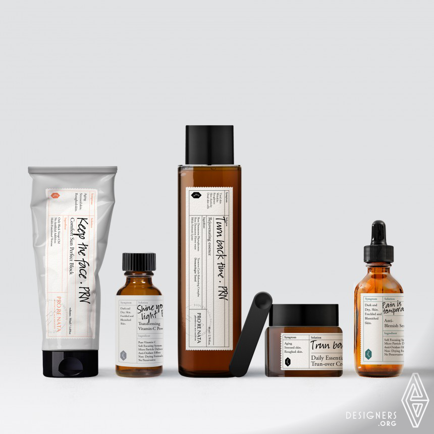 PRO RE NATA Cosmetic Brand Identity & Package Design