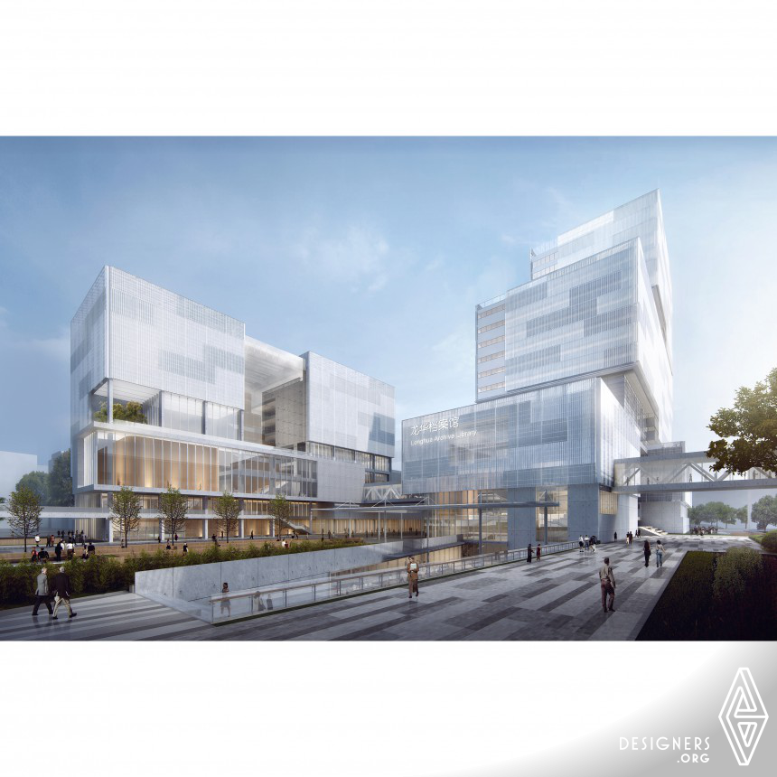 Shenzhen Longhua Archive Complex Archive library, exhibition and office