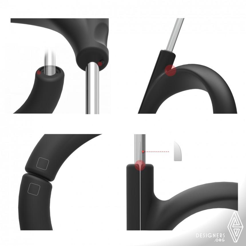 Inspirational Hand-free Umbrella Design