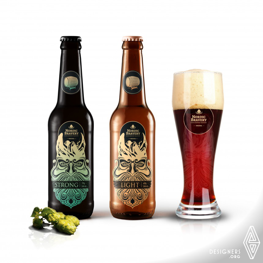 Nordic Bravery  Label and Packaging
