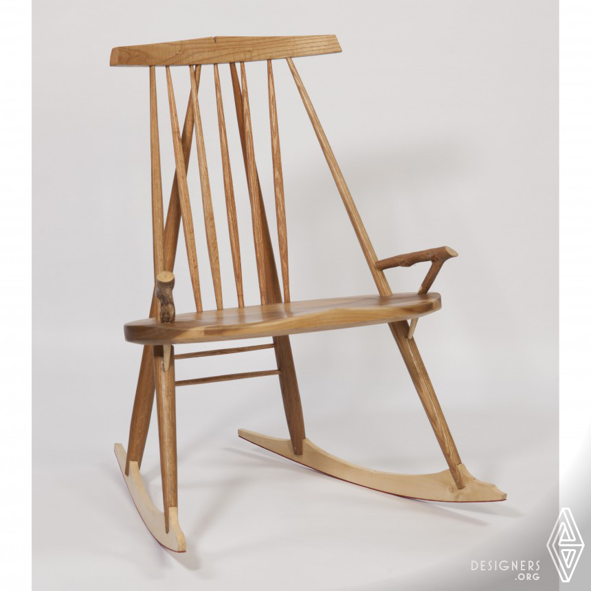 Letter Back Rocker Rocking Chair