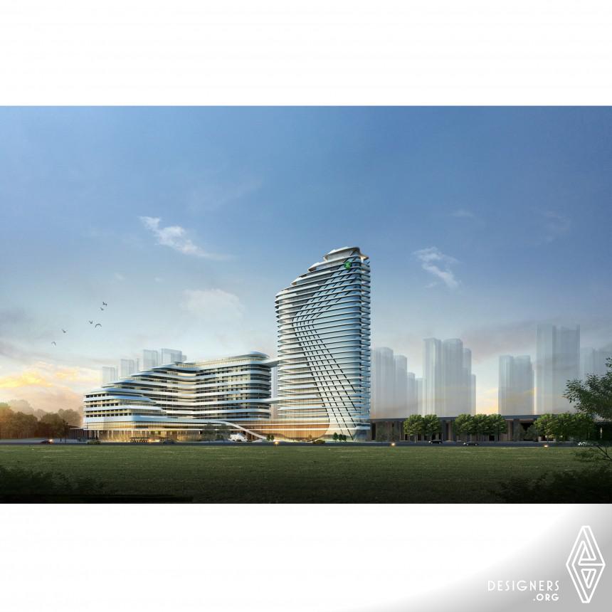 Flowing Curve Complex Building
