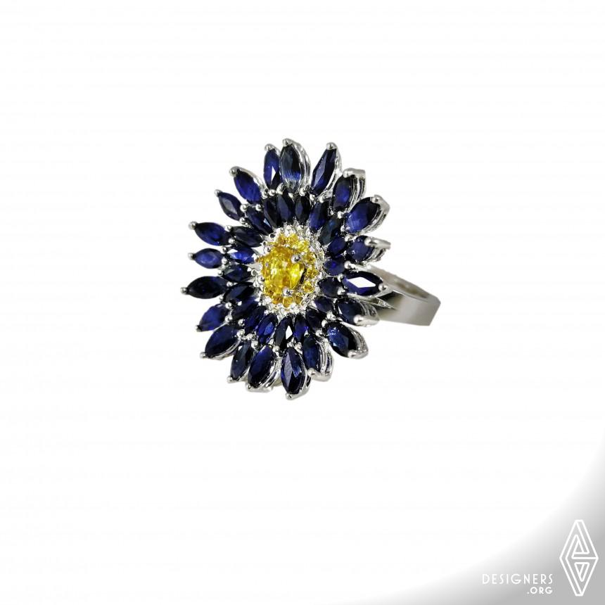 Blue Daisy Multifunctional Ring