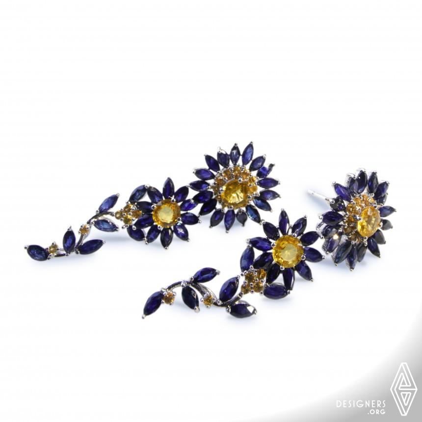 Blue Daisy Multifunctional Earrings
