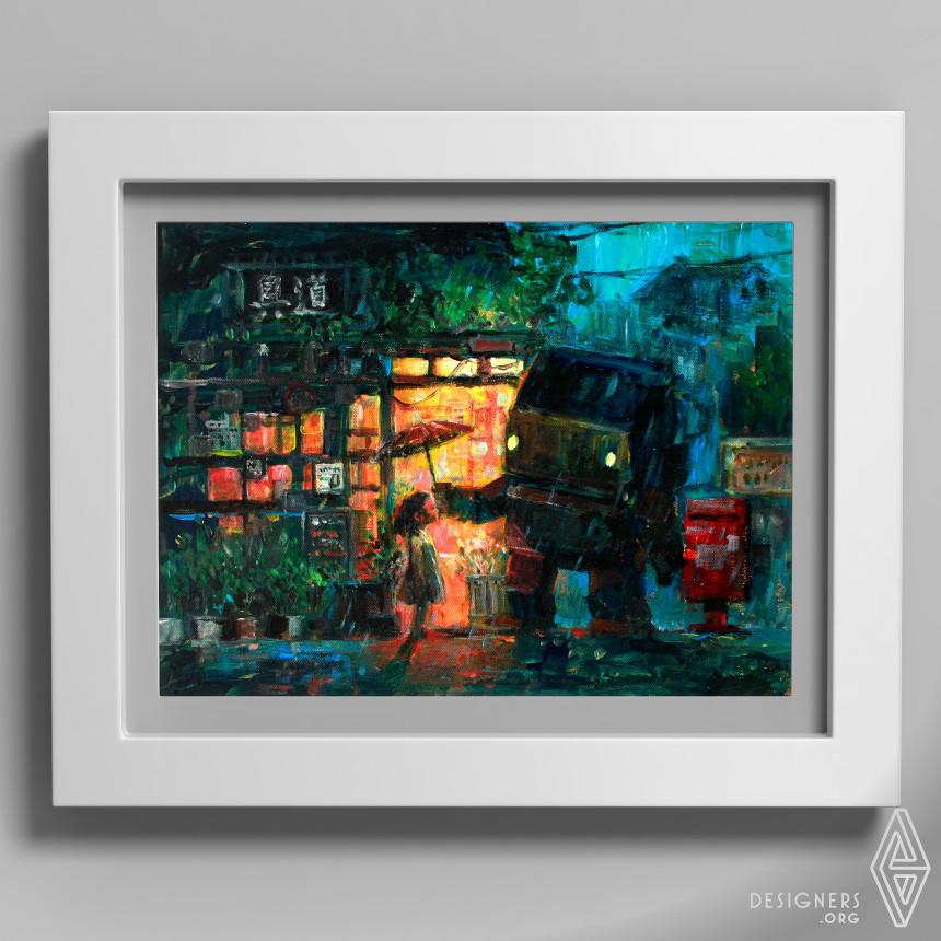 Rainy Day Acrylic Painting