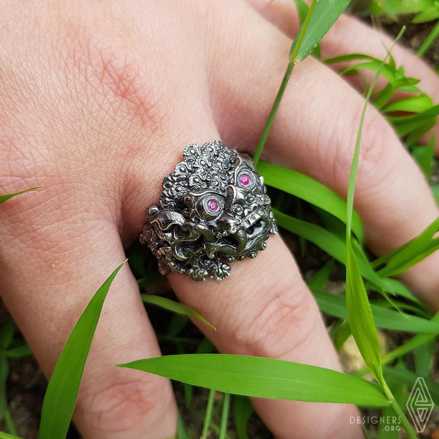 Balinese Barong Ring Image