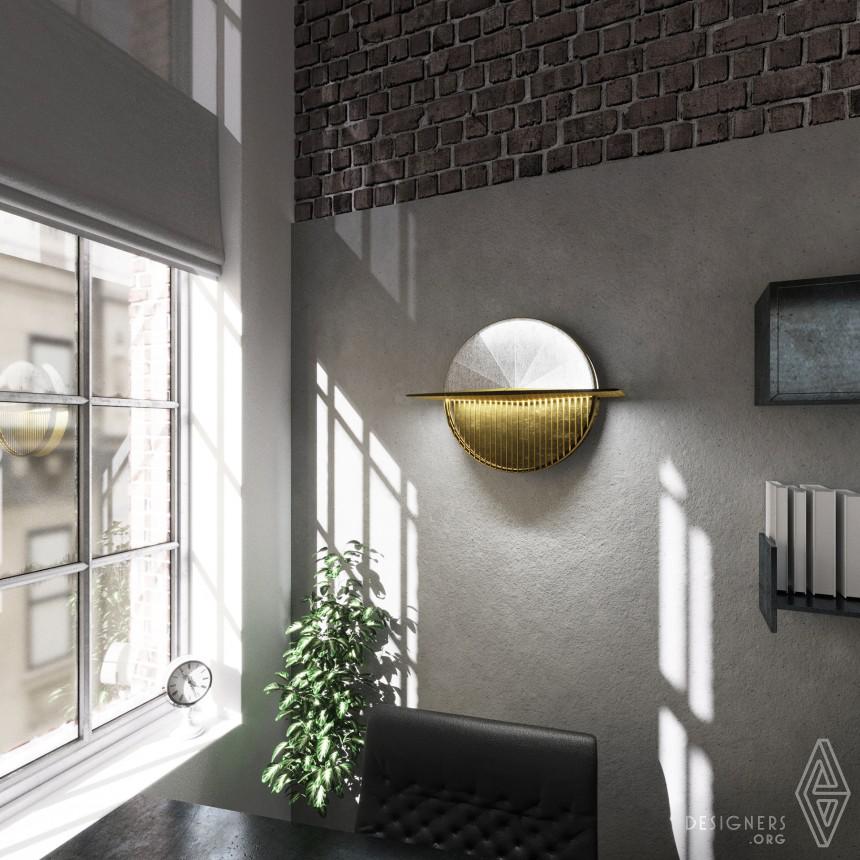 Reverse Sunclock Multifunctional Wall Lamp Image