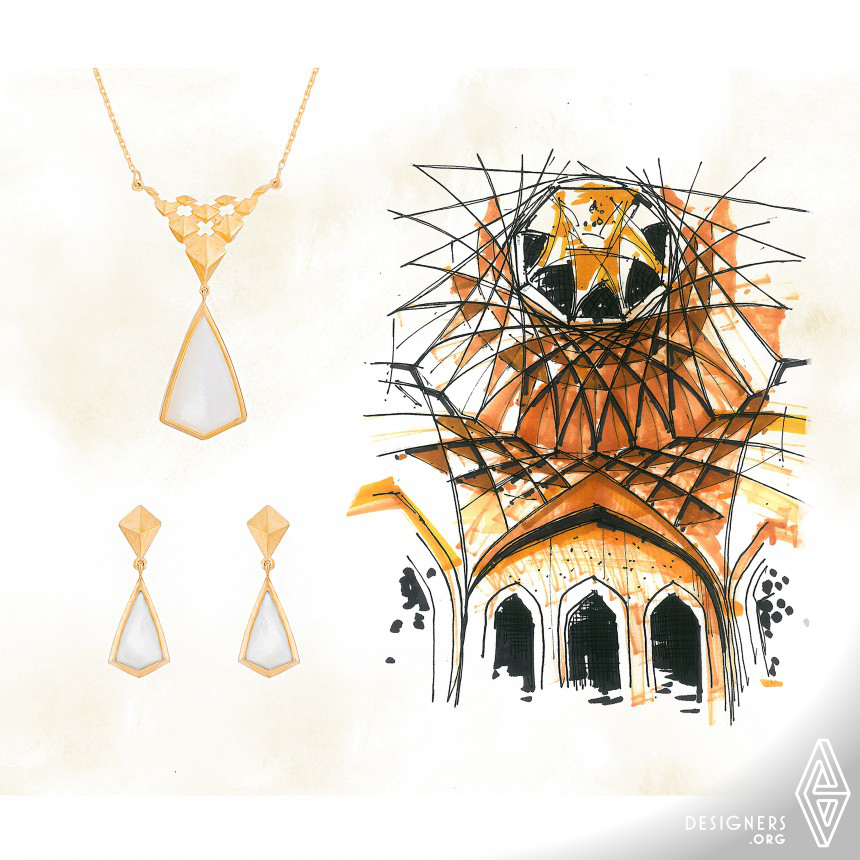 Dolatabad Garden Necklace and Earrings