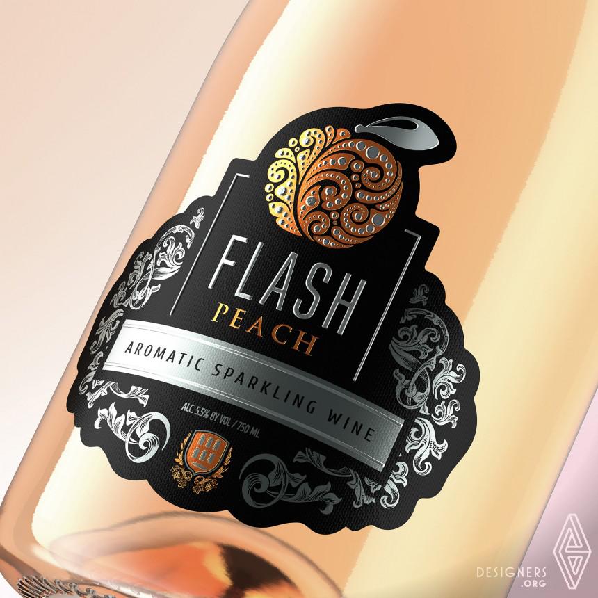 Inspirational Sparkling Wines Label Design