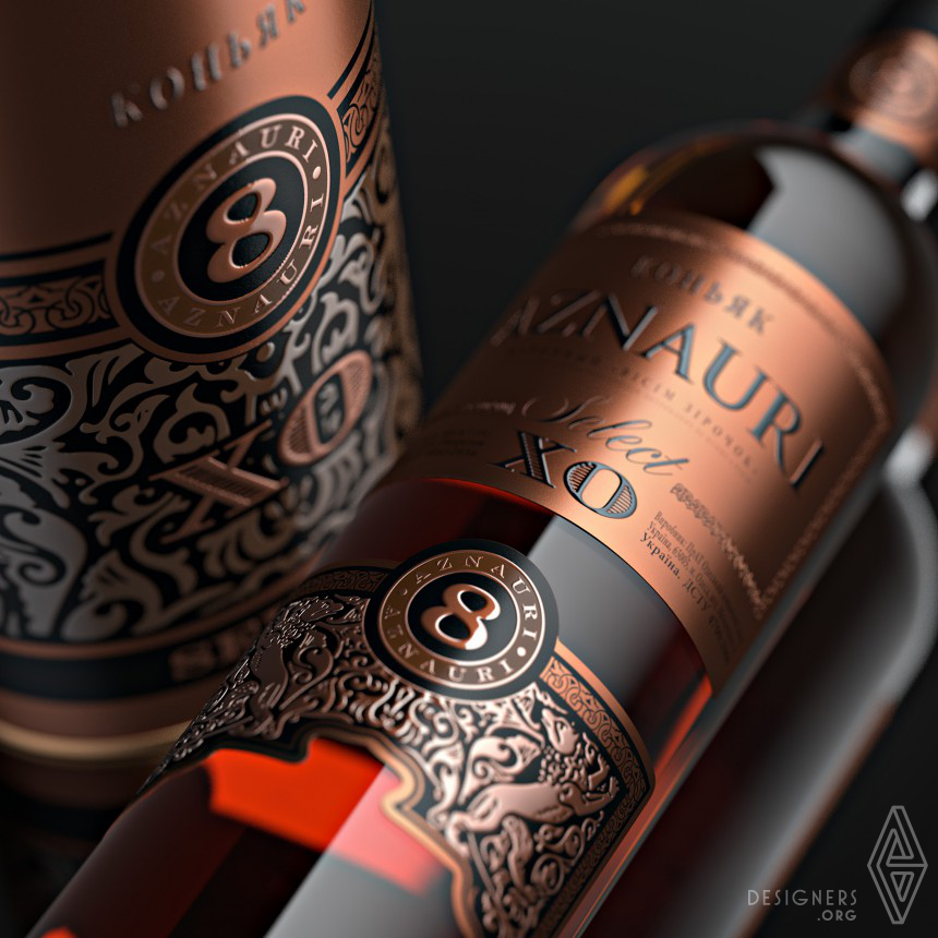 Aznauri Label and Gift Box Image