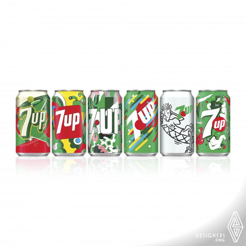 7UP Vintage Pack 2018 Beverage Packaging