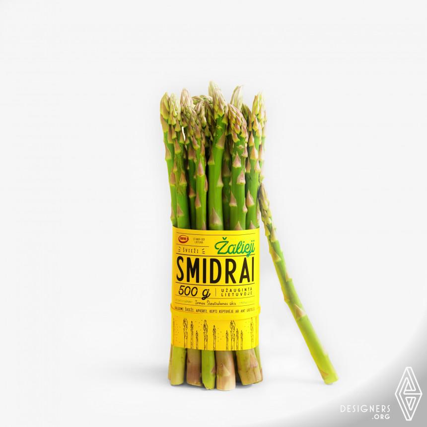 Green Asparagus Packaging Design