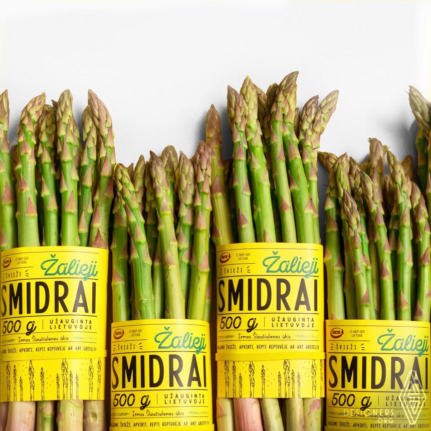 Green Asparagus Packaging Design Image