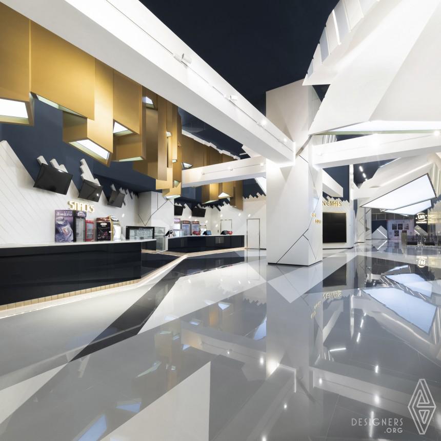 Beauty of Deconstructivism - UA Cinemas Interior Design