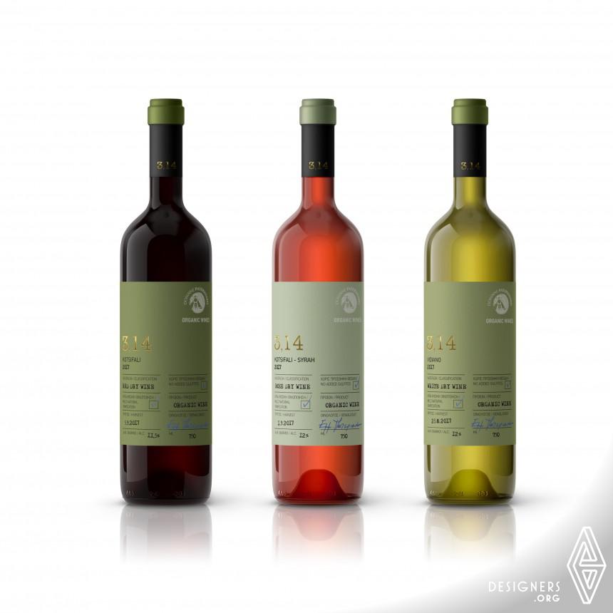 314 pi Wine Label Design