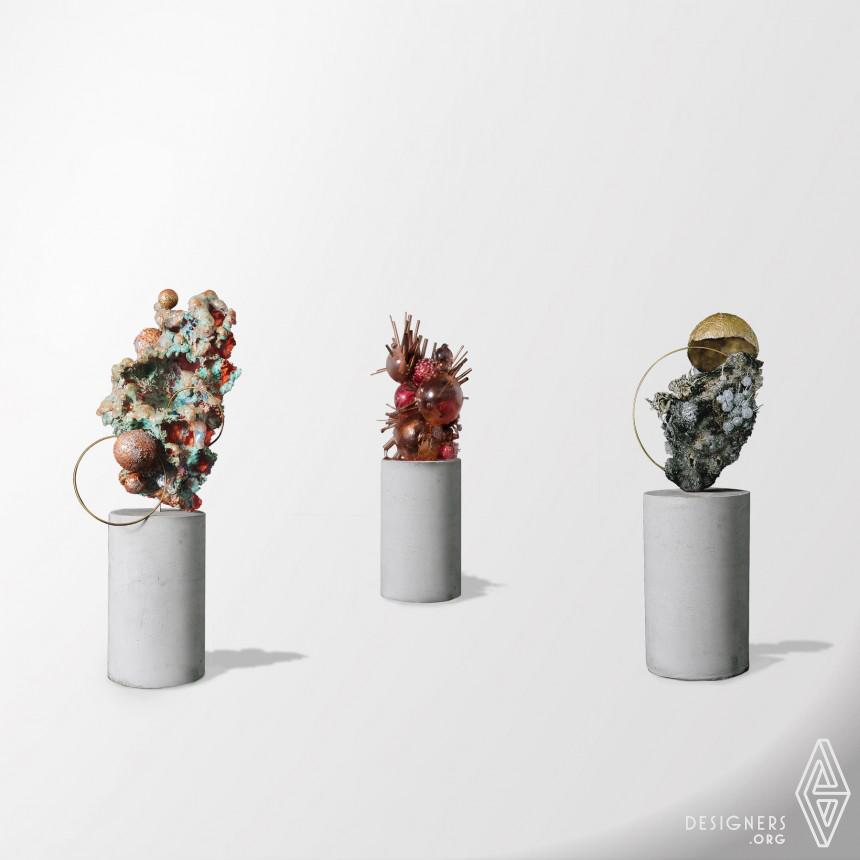 Inorganic Mineral Installation Art Image