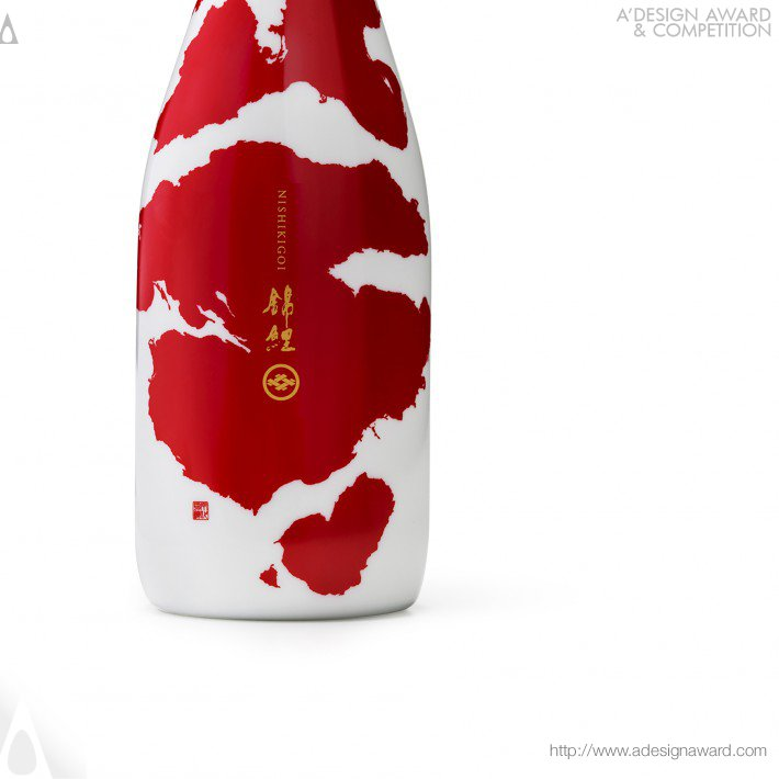 "Japanese Sake ""koi"" (Bottle and Box Design)"