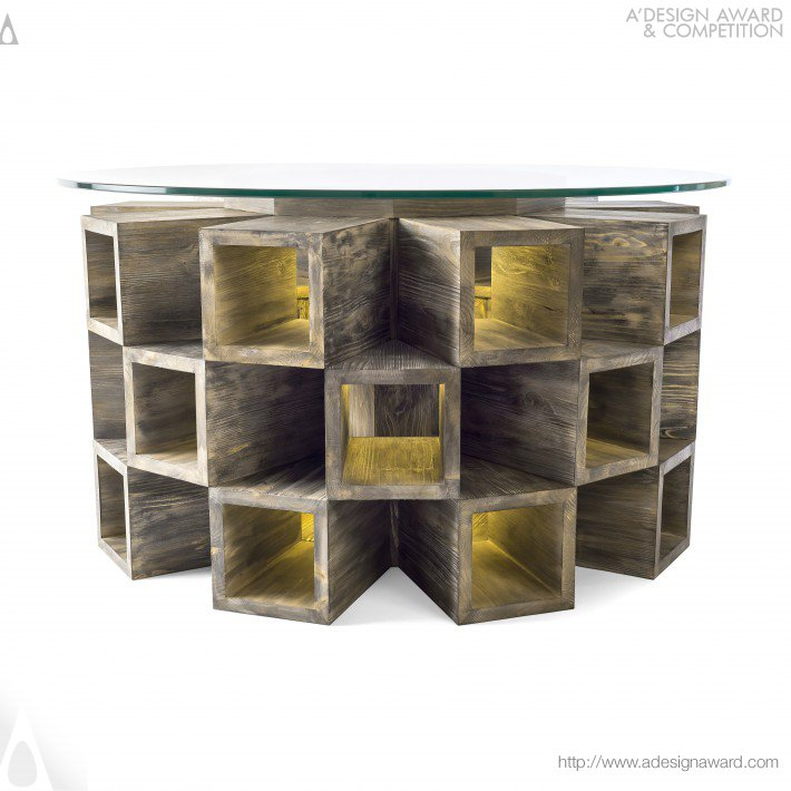 Fireplace Table by Attila Stromajer