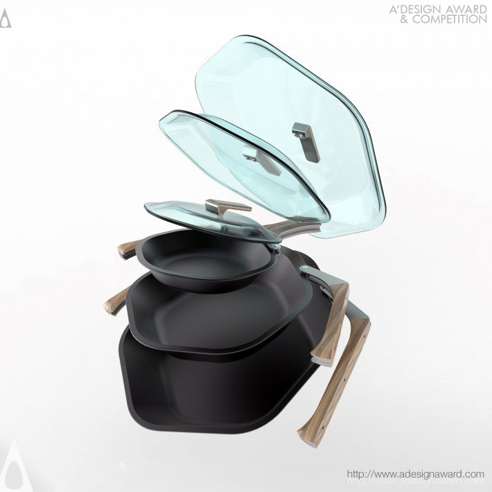 Spiderpan (Folding Handled Pan Set Design)