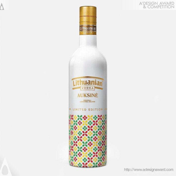 Lithuanian Vodka Gold Limited Edition (Vodka Bottle Design)