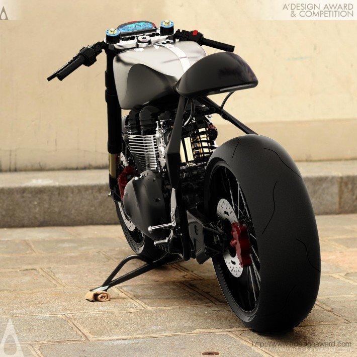 Black Shadow H-E (Hydrogen-Electric Hybrid Motorcycle Design)