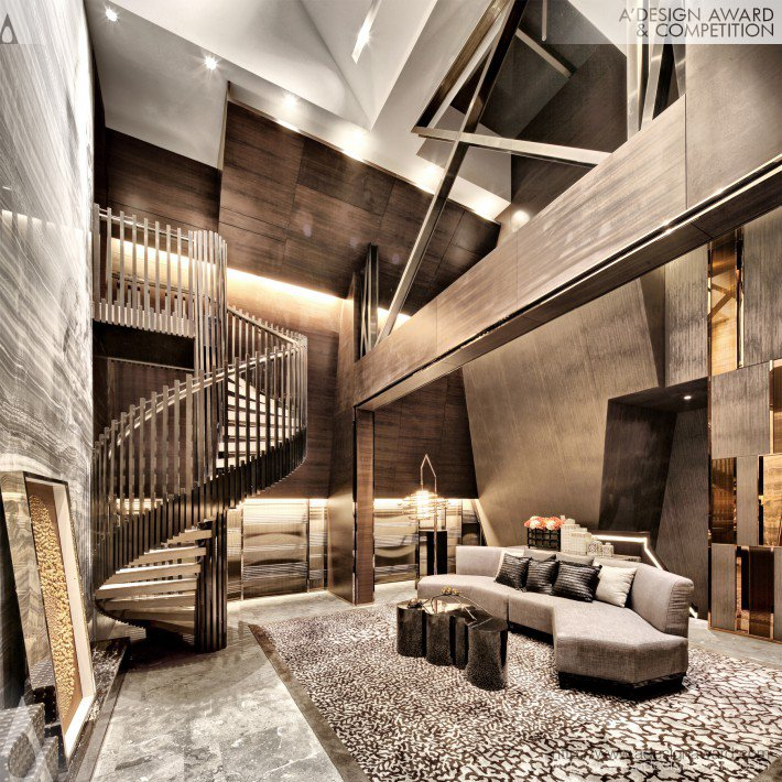British Ville Penthouse of 12# (Show Flat Design)