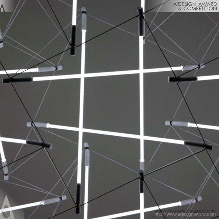 Tensegrity Space Frame (Lighting Structure Design)